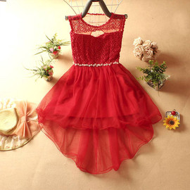 fashion - [grzxy6601055]Hollow Out Mesh Beaded Tiered Sleeveless Bodycon Dress for Wedding Party