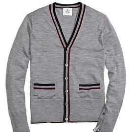 BLACK FLEECE BY Brooks Brothers - Tripped Cardigan