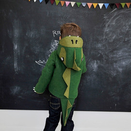 LITTLEGOODALL - Kids Coat: Cheeky Green Dinosaur