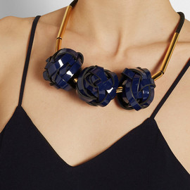 MARNI - Gold-plated, rope and PVC necklace