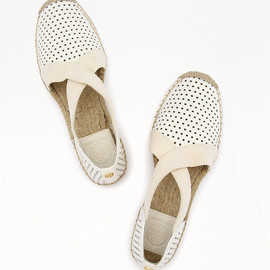 TORY BURCH - catalina ESPADRILLE-PERFORATED MESTICO FLAT