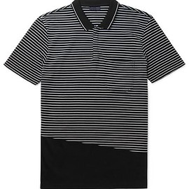 Lanvin - Slim-Fit Striped Cotton-Piqué Polo Shirt