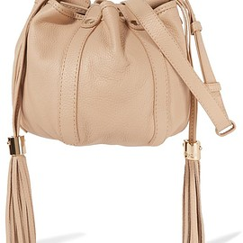 See by Chloé - Vicki mini textured-leather bucket bag