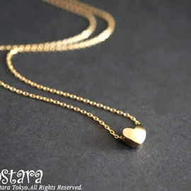 Ostara - 【14KGF】Necklace,16KGP Mat Gold Tiny Heart