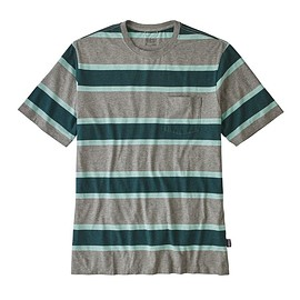 patagonia - M's Squeaky Clean Pocket Tee, Rugby: Feather Grey (RUGF)