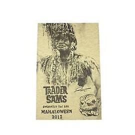 Disney - DISNEYLAND TRADER SAMS TIKI BAR 2015 MAHALOWEEN SIGNED TRADER SAM PRINT ON PAPER