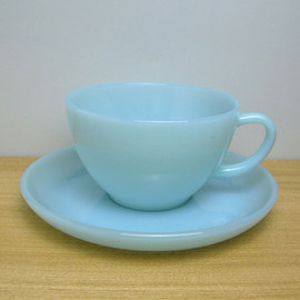 Fire King - Turquoise Blue Cup & Saucer