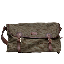 Upscape Audience, Audience, VASCO - デッドストックレインカモテント生地×Leather Fishing Shoulder Bag[AUD5057]