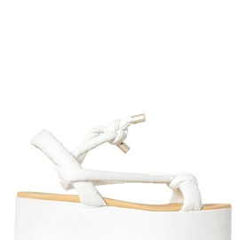 MM6, Maison Martin Margiela - FAUX LEATHER WEDGE SANDALS