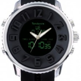 Tendence - Round Gulliver Diver Special Edition (Black & Silver Digital)