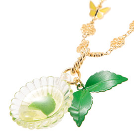 Q-pot - Mint tea Cup Necklace / ネックレス