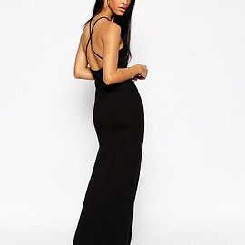 ASOS - Halter Strappy Back Maxi Dress