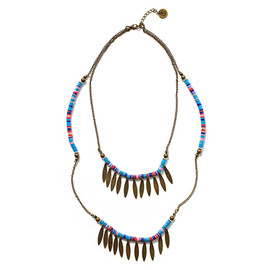 STUSSY WOMEN - Multi Color Disc Necklace