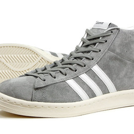 adidas originals - CAMPUS 39HI  ALUMI2/WHITE/CHALK2