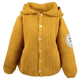 bobo choses - Knitted Hooded Cardigan Yellow