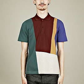 Carven - Patchwork Pique Polo Shirt in Multi