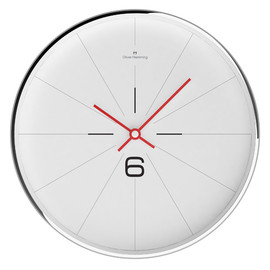 oliver hemming - 300mm Chrome steel wall clock