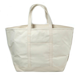 L.L.Bean - Boat and Tote Bag, Zip-Top XL  white