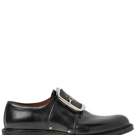 GIVENCHY - MATTE BRUSHED LEATHER BUCKLE SHOE