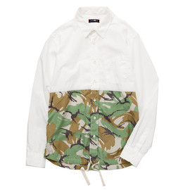 cash ca - camo panel l/s shirt