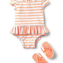 gap - Stripe peplum swim one-piece Product Image