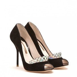 SOPHIA WEBSTER - GIGI SUEDE SANDAL WITH TIARA TRIM