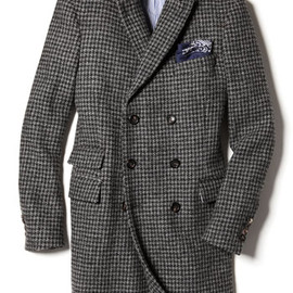 MICHAEL BASTIAN - Double Breasted Houndstooth Top Coat