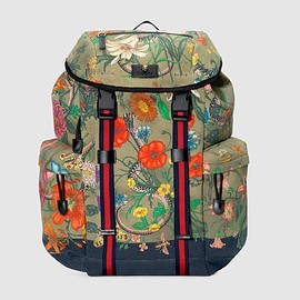 GUCCI - Flora Snake print backpack