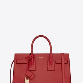 SAINT LAURENT PARIS - SAC DE JOUR MINI, ROUGE