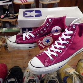 "converse - 「<used>80-90's converse ALLSTAR HI maroon""made in USA"" W/BOX size:US9/h(28cm) 15800yen」販売中"