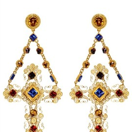 DOLCE & GABBANA - CROSS CLIP EARRINGS