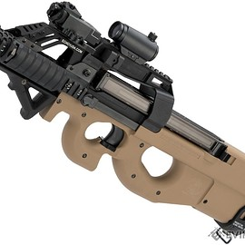 Cybergun, FN Herstal, Evike - P90 Gas Blowback PDW - Tan