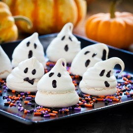 Halloween Ghost Meringue Cookies