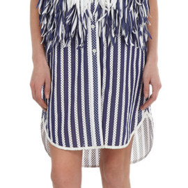 sacai - Fringed Stripe Dress