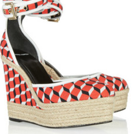 Pierre Hardy - Cube print canvas wedges