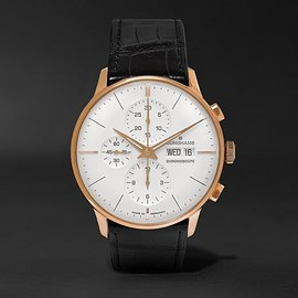 Junghans - Meister Chronoscope Gold-Tone and Alligator Watch