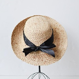 vintage - Madeline Straw Hat / Women's Vintage Inspired Straw Hat With Bow