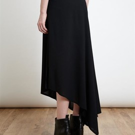 ANN DEMEULEMEESTER - Asymmetric Wool Blend Skirt