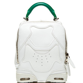 ALEXANDER WANG - SS2015 Small Sneaker Bag In Optic White And Astroturf