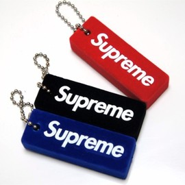 supreme - puffy keyring