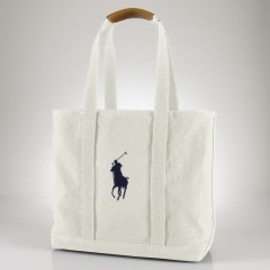 RALPH LAUREN - Canvas and Leather Medium Tote - Create Your Own Bags