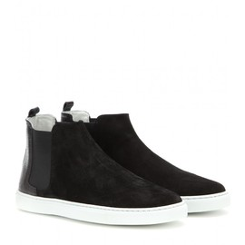LANVIN - Suede high-top sneakers