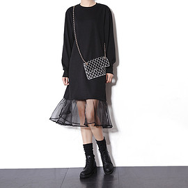 loose dress with tulle
