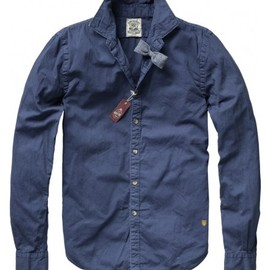 Scotch & Soda - Long-sleeved shirt with bow tie