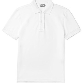 TOM FORD - Slim-Fit Cotton-Piqué Polo Shirt