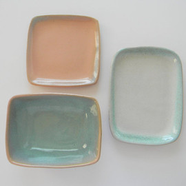 Trio of Glidden Pottery Bowl Plate and Tray