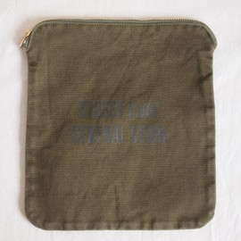 STUSSY Livin' - Canvas Bankers Pouch #olive