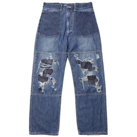 bicester - MILITARY DENIM WORK PANTS