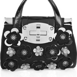miu miu - Wool-crepe metal flower bag