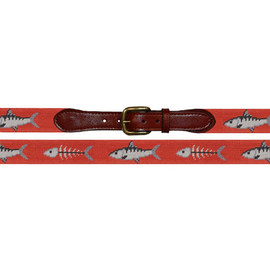 Smathers&Branson - Bonefish needlepoint belt